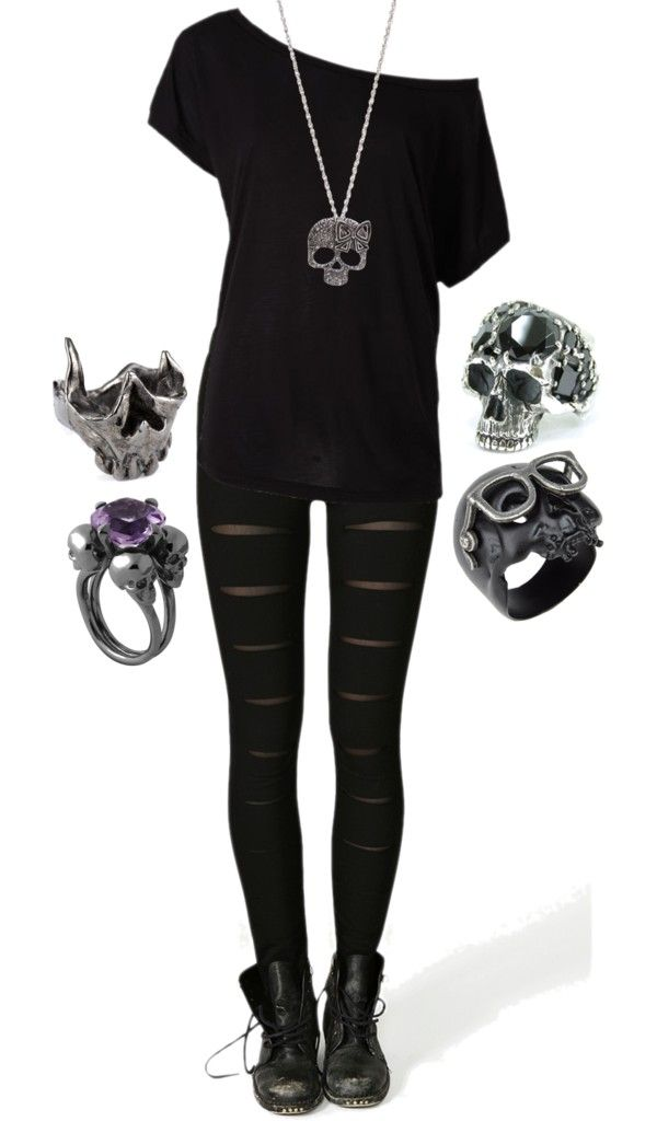Skulls | My Style | Pinterest | Polyvore, Clothes and Gothic