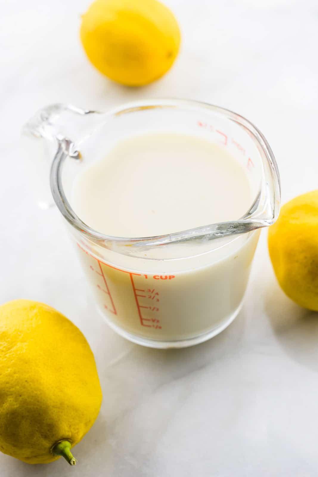 Vegan Buttermilk In 2020 Buttermilk Recipes Vegan Baking Homemade Buttermilk