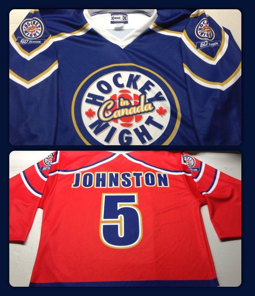 Hockey Night In Canada 60th Season Edition Custom Jersey Of The Day Sublimation Hockey Hnic Custom Jerseys Sport T Shirt Jersey