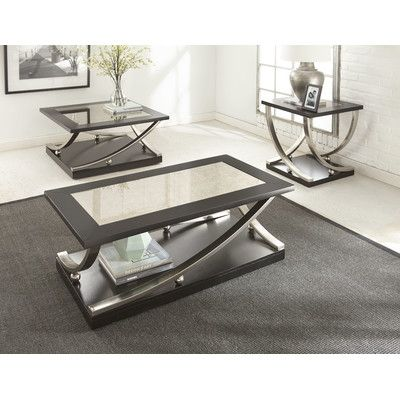 Wade Logan Lamour 3 Piece Coffee Table Set