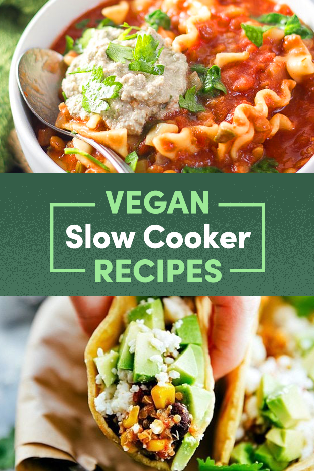 14 Comforting Slow Cooker Recipes Without Any Meat Or Dairy Vegan Slow Cooker Recipes Vegetarian Slow Cooker Recipes Vegetarian Crockpot