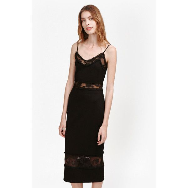 French Connection Lucky Layer Strappy Lace Dress 168