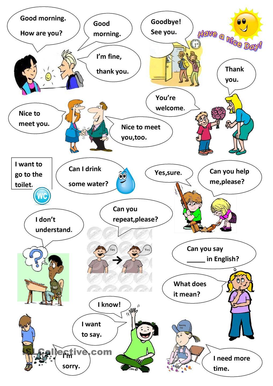Classroom language worksheet pdf