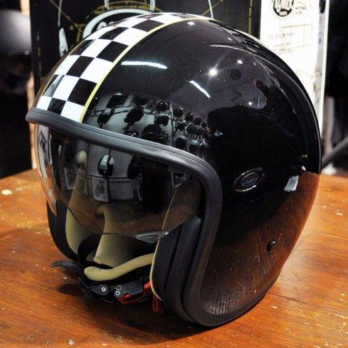 Premier Jet Vintage Helmet Ck Black Urban Rider London Vintage Helmet Motorcycle Helmets Helmet
