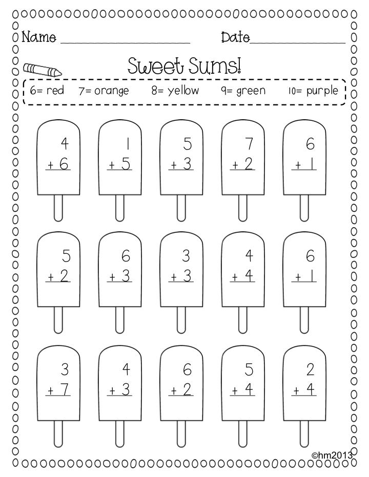 Fun Summer Math Practice #mathpractice Summer Math, Summer Math Practice,  Summer Math Worksheets