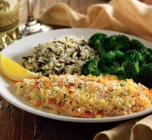 Red Lobster's parmesan crusted tilapia. Nate's favorite :)