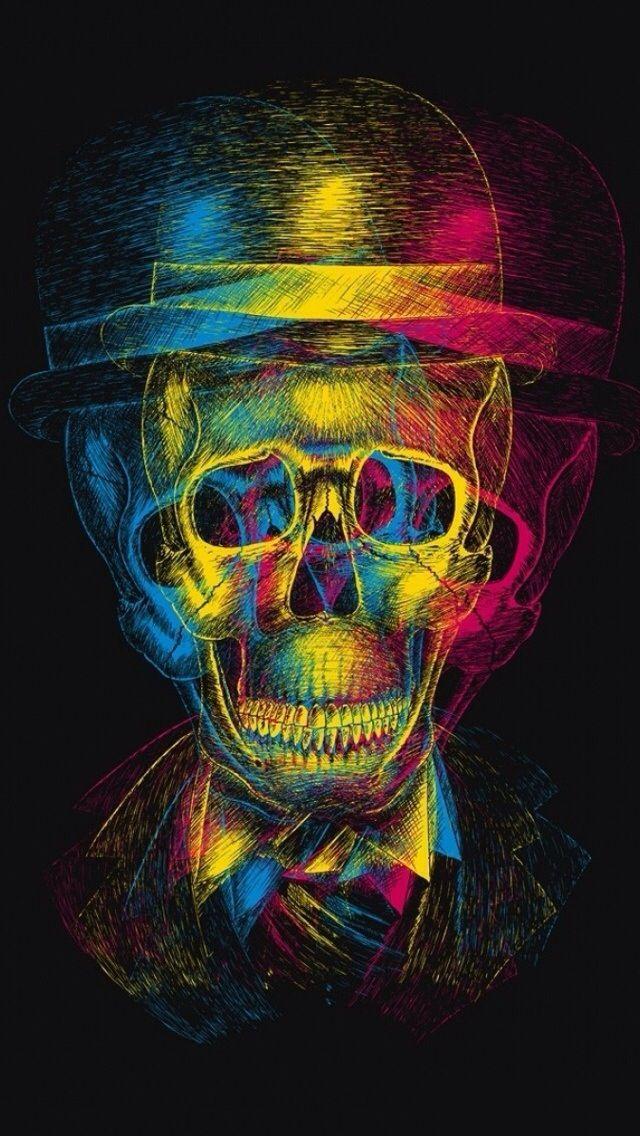 Wallpaper Iphone 5 Skull Wallpaper Skull Art Art Cool color skull wallpaper