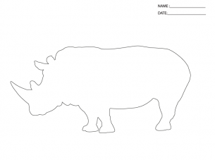 activity templates rhino africa art inspirations templates