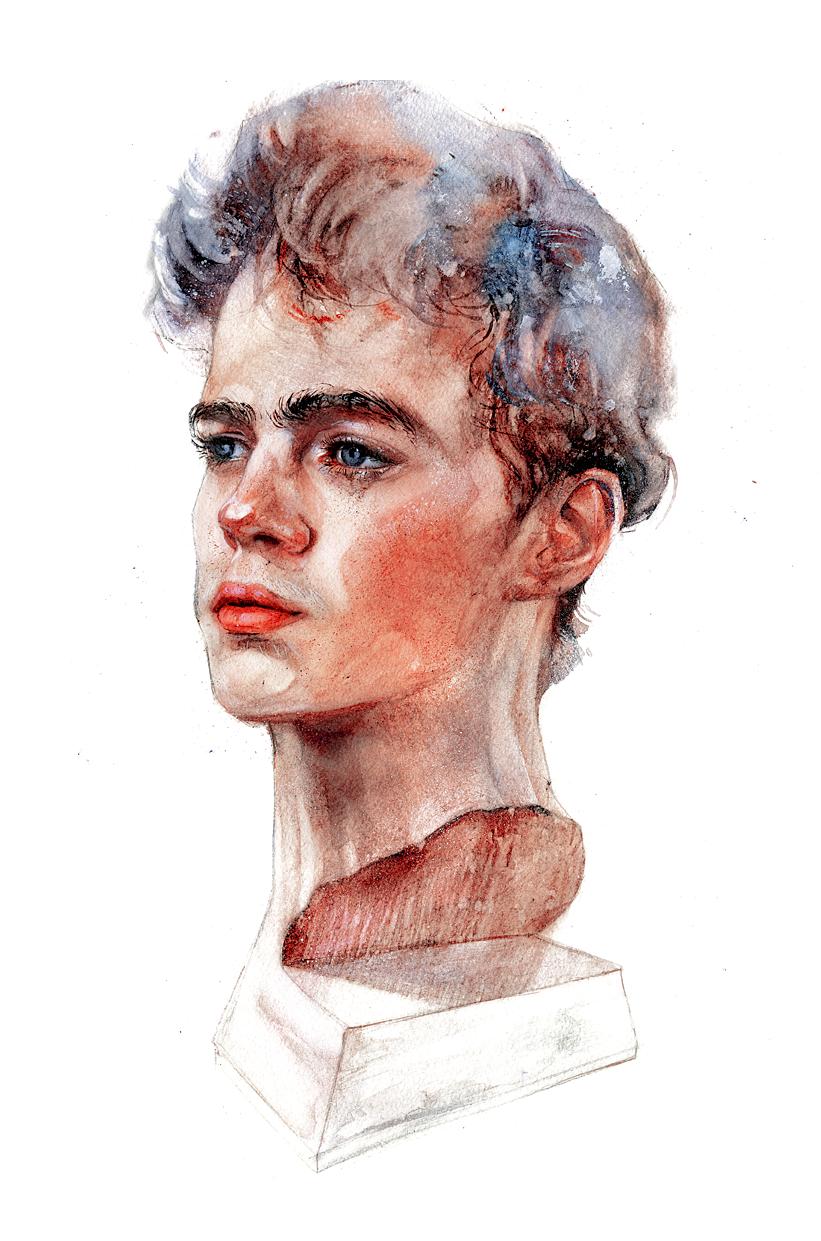 Portrait Set On Behance Portrait Human Painting Artist Inspiration
