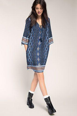 edc - Let kjole med allover-print i Esprits Online-Shop