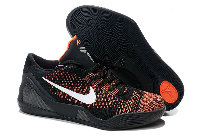 Nike Zoom Kobe IX 9 Elite Low-top Black with Orange and White Discount  Training Shoes