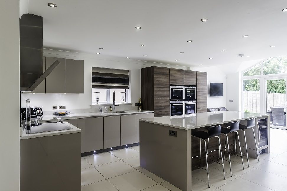 White kitchens ideal home for white kitchen units with for Kitchen units and worktops