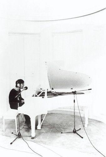 John Lennon recording Imagine at home in Tittenhurst, Ascot. 21 June, 1971.