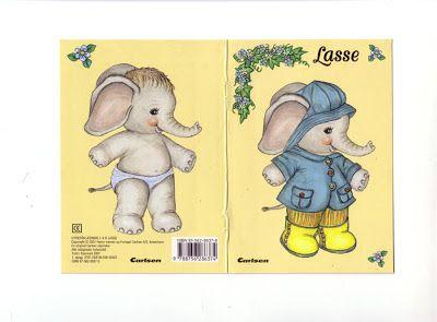 Elephant paper doll