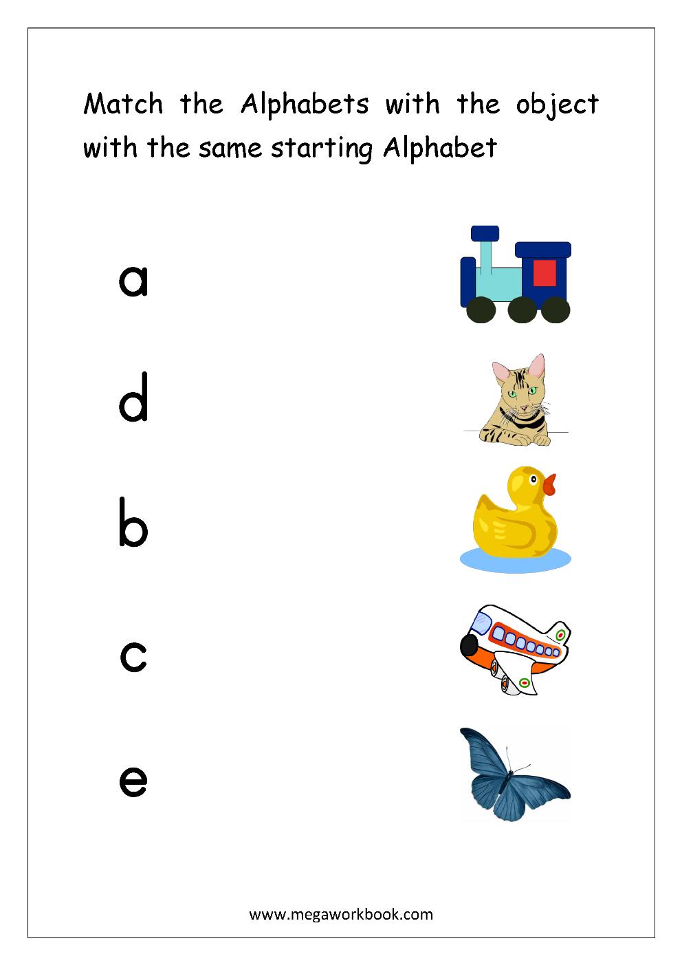 Free English Worksheets Alphabet Matching Megaworkbook Alphabet Matching English Worksheets For Kids Alphabet Pictures [ 1403 x 992 Pixel ]