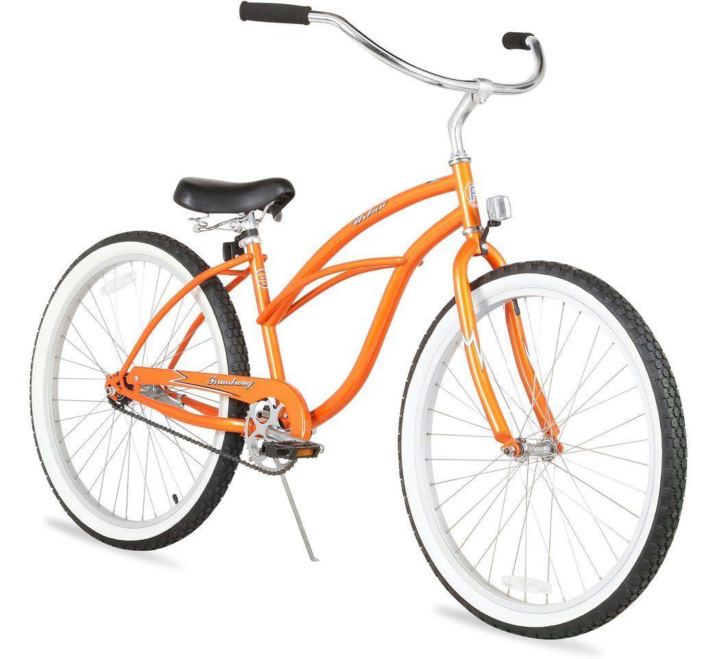 Urban Lady Single Speed Women S 26 Beach Cruiser Bike In Orange