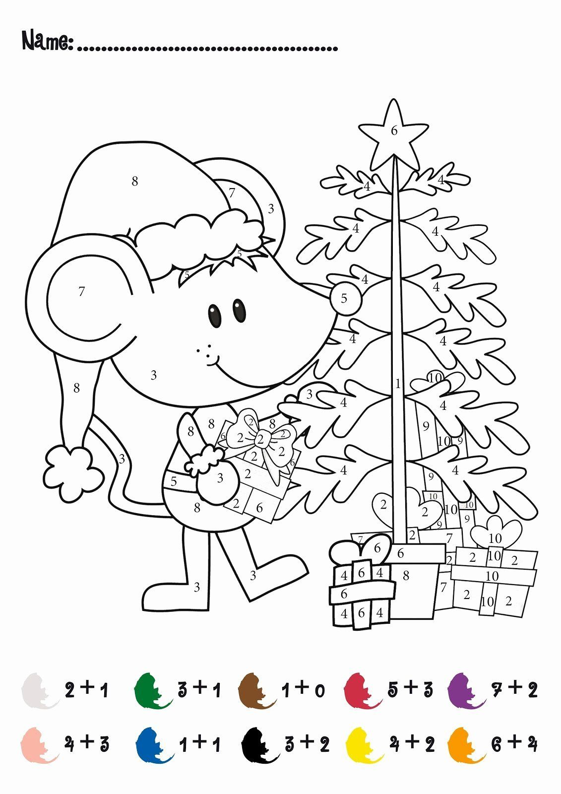 Free Number Coloring Pages Inspirational Color By Number