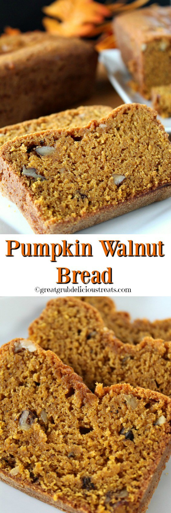 Pumpkin Walnut Bread heavy & flavorful. Bundt pan