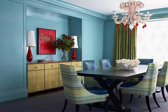 Split Complementary Color Scheme  The Two Colors On Each Side Of The Direct  Complimentary On · Turquoise Dining RoomBlue ...
