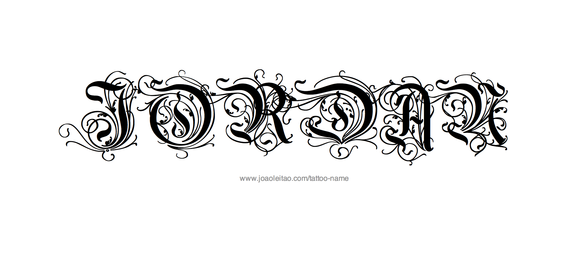 Tribal Name Tattoo Design: Jordan Name Tattoo Designs