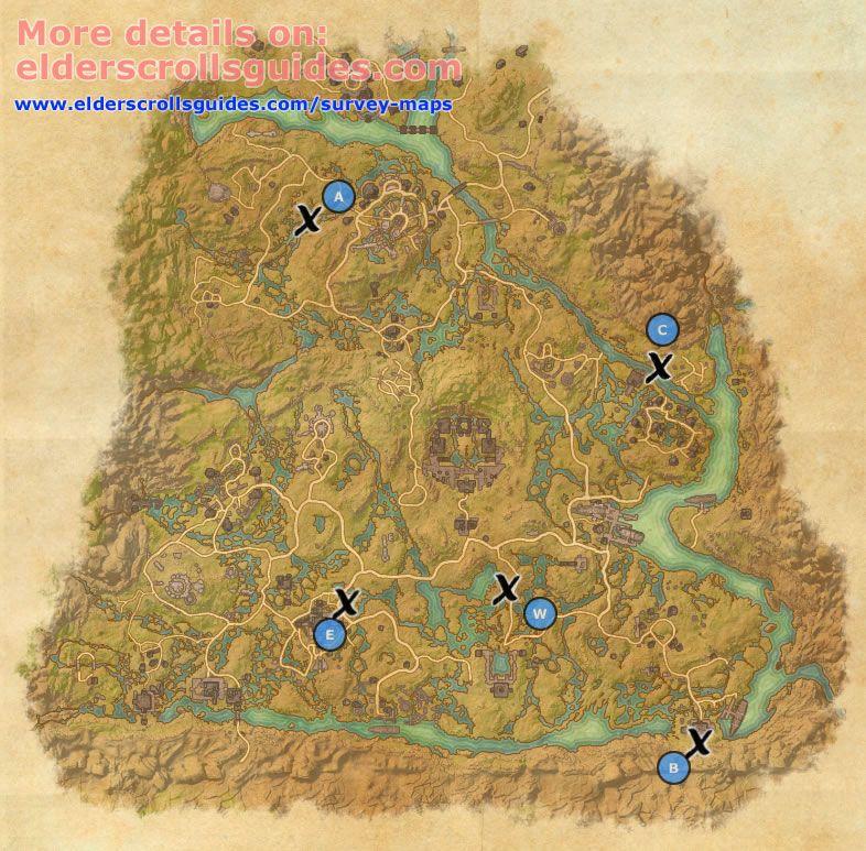Shadowfen Survey Report Map Elder Scrolls Online Guides Elder