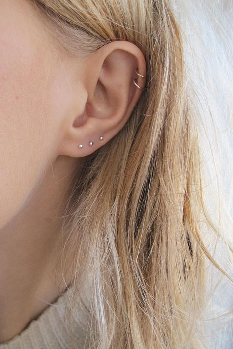 Stainless Steel Earring Stud Gold and Brown Stud Earrings Two Pairs of Stud Earrings Small Stud Earrings