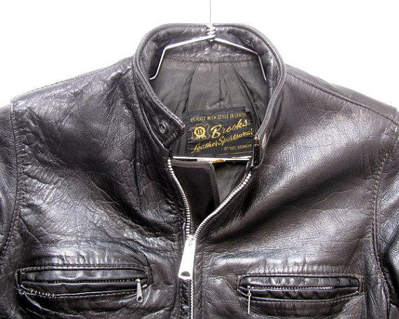 Vintage Brooks Motorcycle Jacket Mens Black by Atomicfireball #HDNaughtyList
