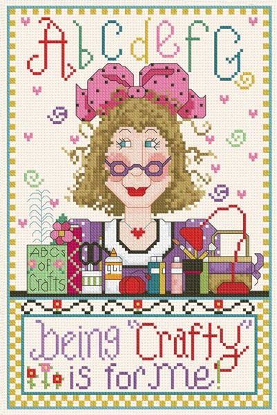 0 point de croix lady being crafty is for me - cross stitch