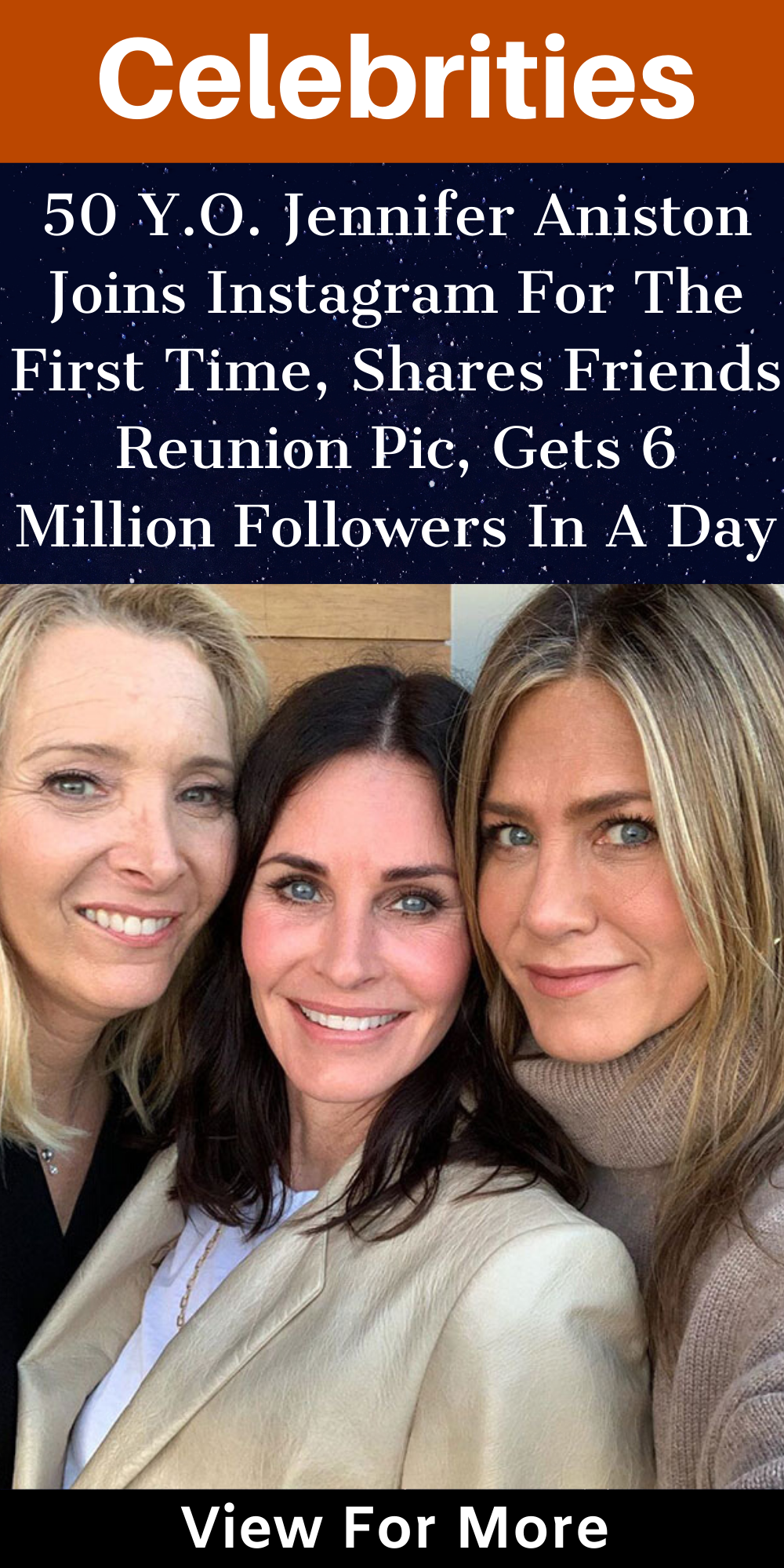 50 y o jennifer aniston joins instagram for the first time shares friends reunion pic gets 6 million followers in a day bored panda 50 Y O Jennifer Aniston Joins Instagram For The First Time Shares Friends Reunion Pic Gets 6 Million Follow Jennifer Aniston Jennifer Aniston Friends Join Instagram