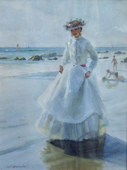 Lady at the beach, Gregory Frank Harris: