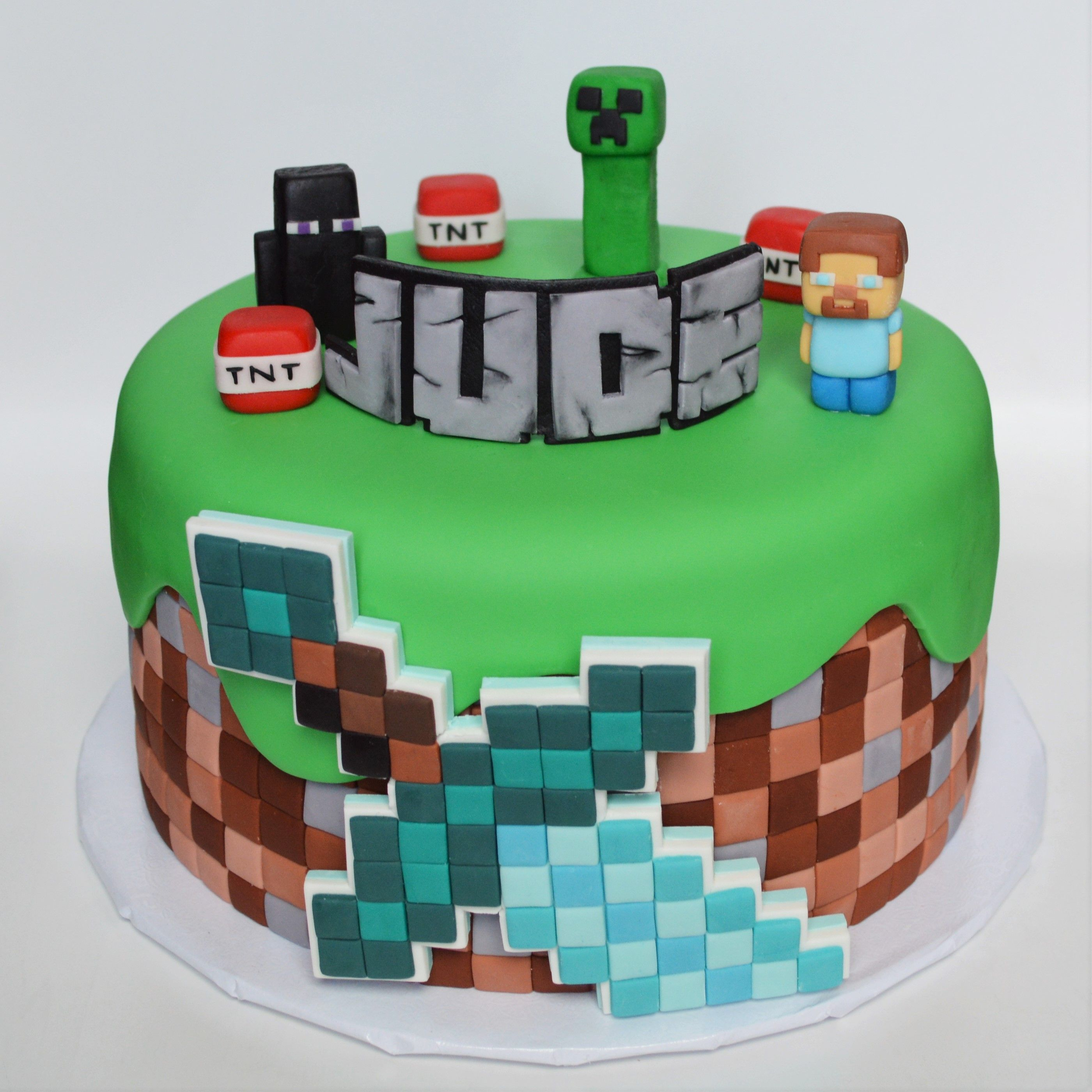 minecraft cake ideas minecraft themed cake jam cakes in 2019 cake 5908