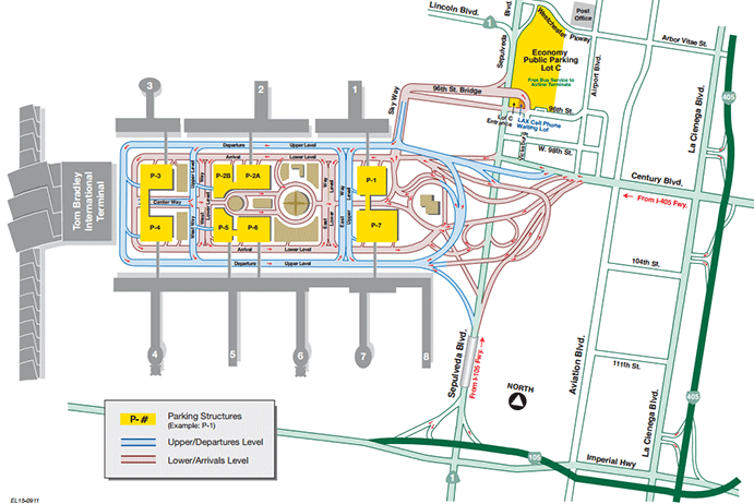 How to enter LAX and Parking Map Lax, Los angeles