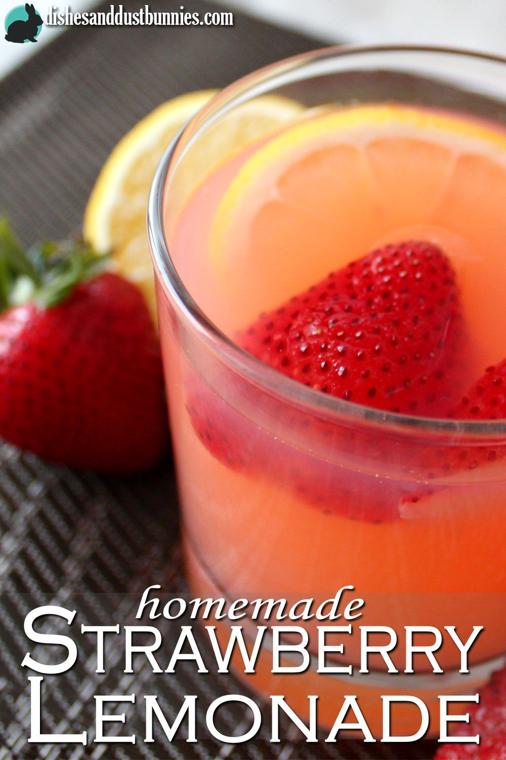 Homemade Strawberry Lemonade Recipe - Dishes & Dust Bunnies