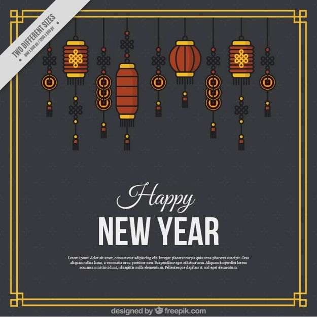 Download Chinese New Year Background With Minimalist Lanterns For