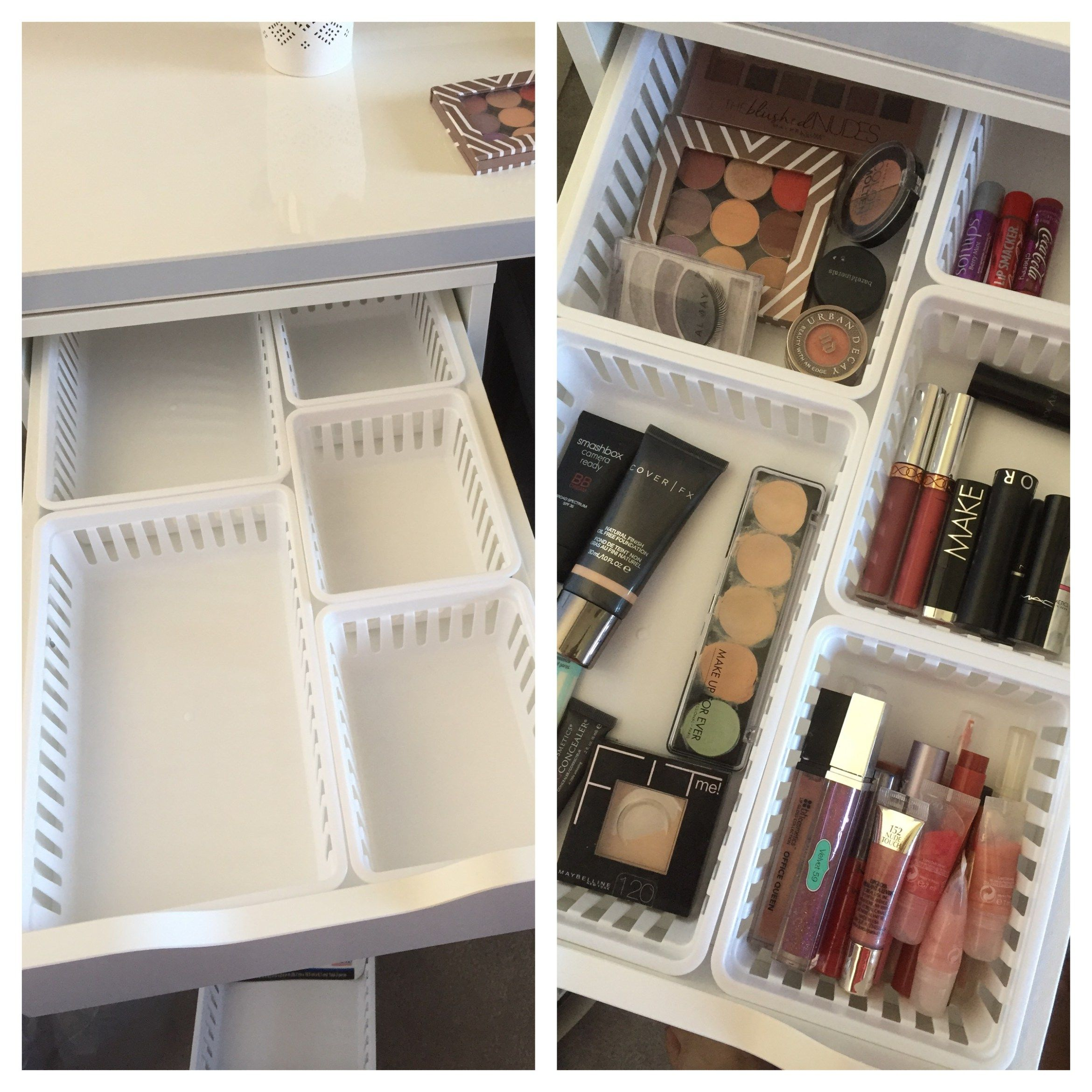 Walmart makeup storage ideas for ikea alex drawers