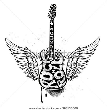 Rock Guitar With Wings