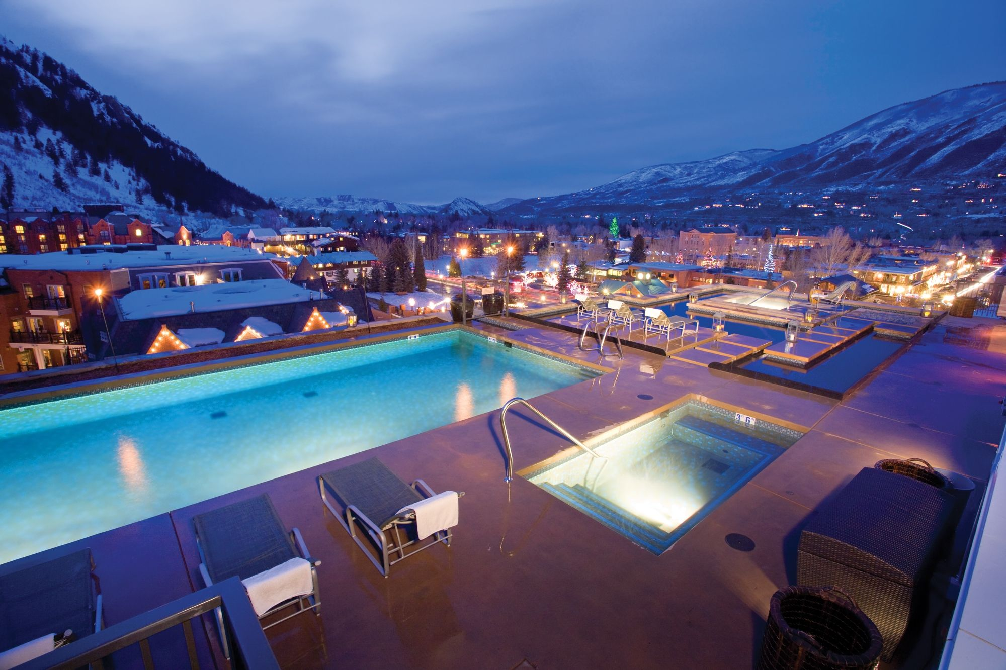 Roof Top Pools At The Little Nell Residences In Aspen Colorado Plus