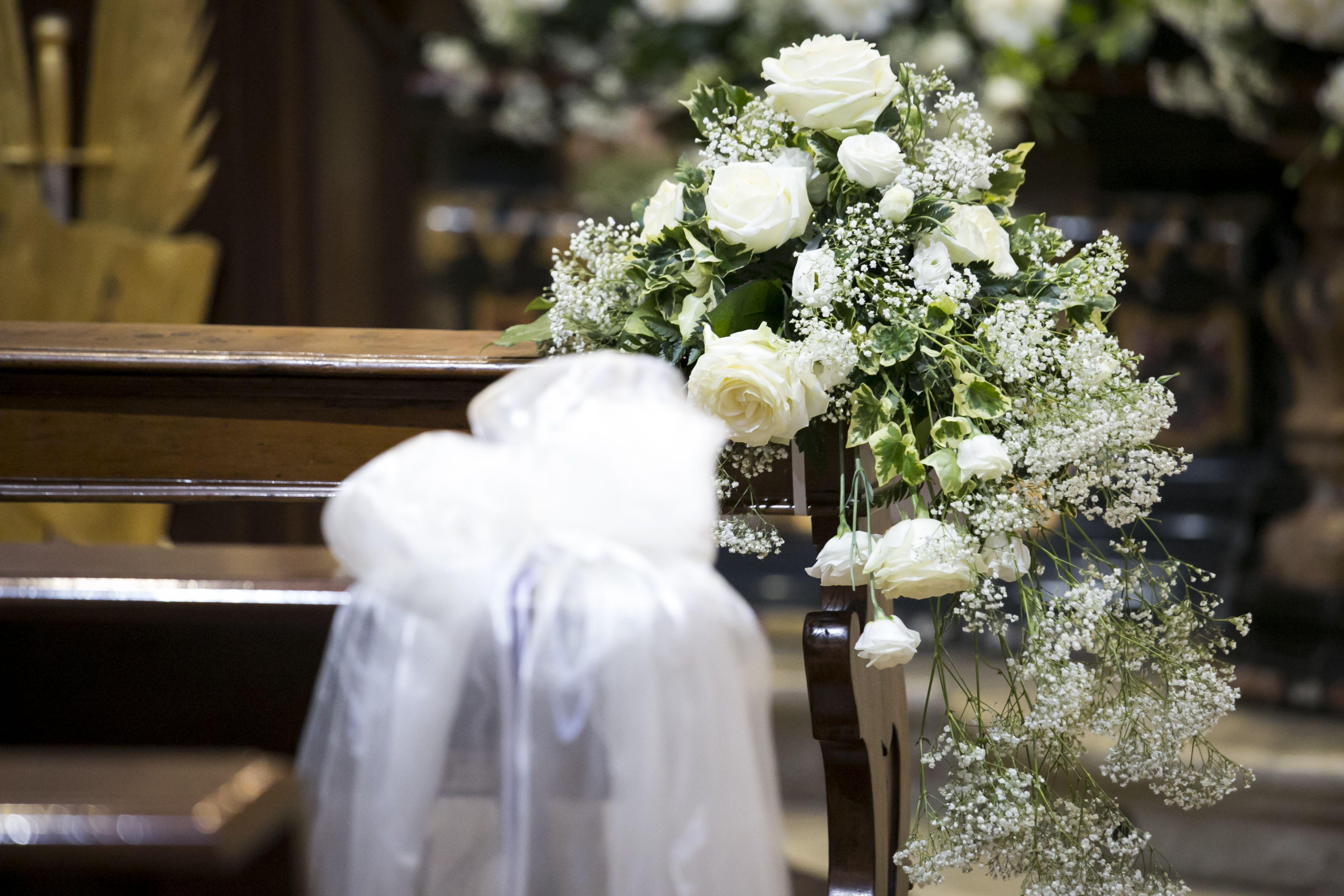 Wedding Flowers White Flowers Addobbo Chiesa Matrimonio Fiori Bianchi Fiori Bianchi Matrimonio Fiori