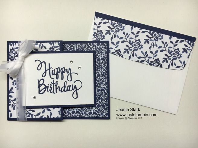 Happy Birthday Joy Fold Card using Stampin\u0027 Up! Floral Boutique