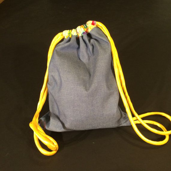women's one of a kind drawstring backpack by mamalugashi on Etsy