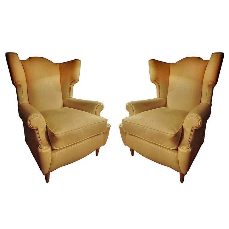 Pair Of Armchairs Uk 1950s Length 33 46 In 85 Cm