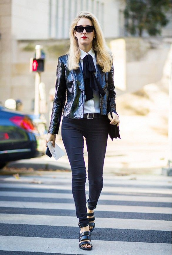b45924b7ee9 Hate Holiday Dresses  How to Dress Up Your Jeans for Party Season via   WhoWhatWear