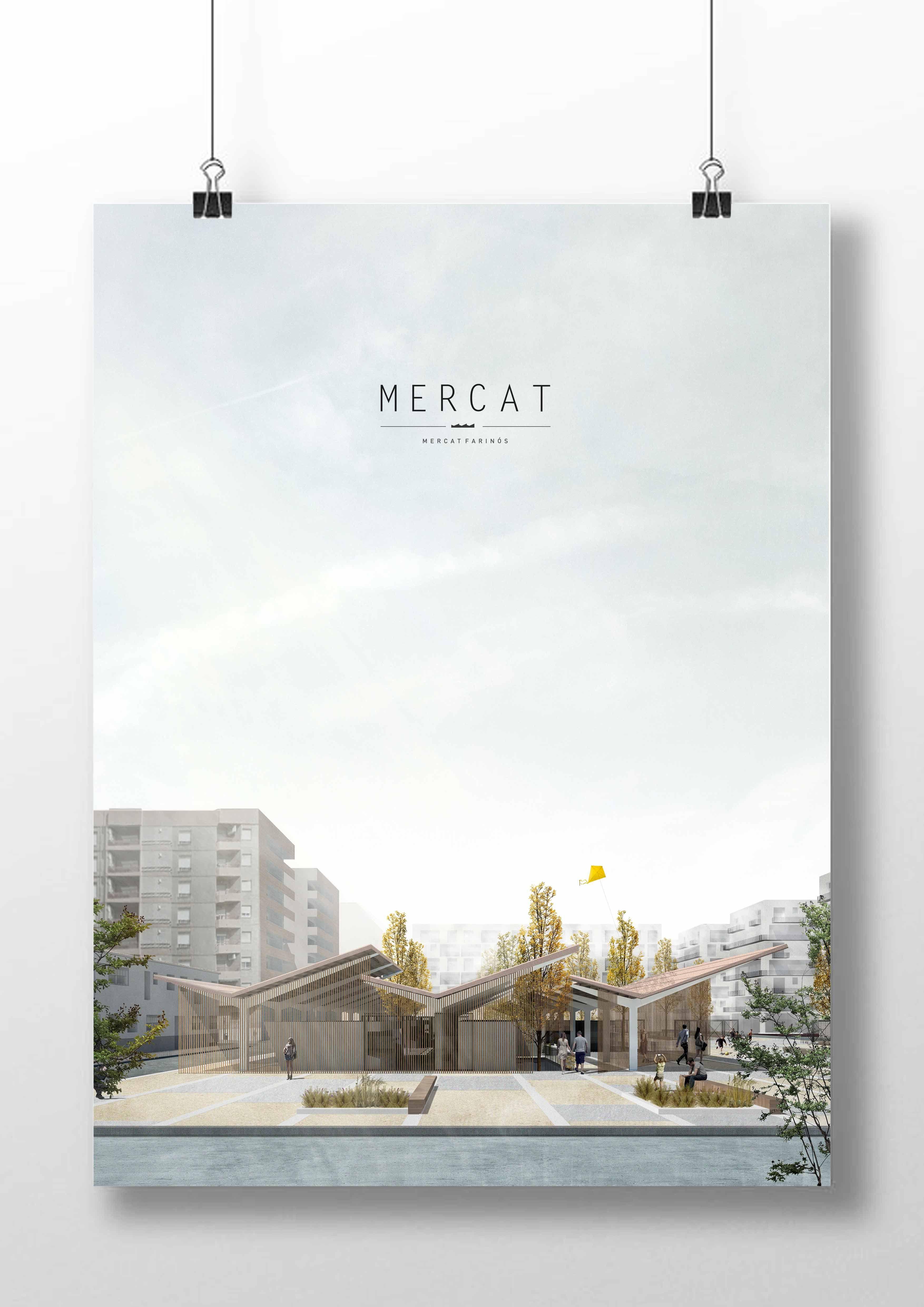 Andrés Jover. Mercat Farinós panel layout.