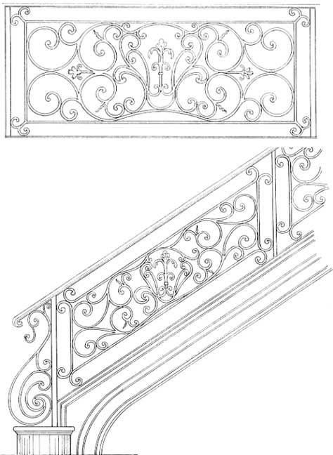 Fleur De Lis Stair Railing Design With Images Wrought Iron