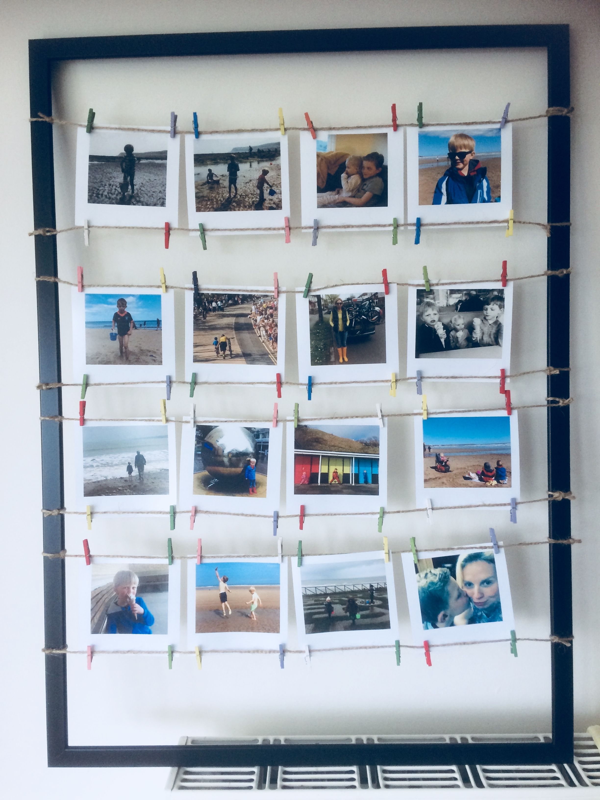 Ikea Hack Ikea Frame String And Small Wooden Pegs Art In 2019