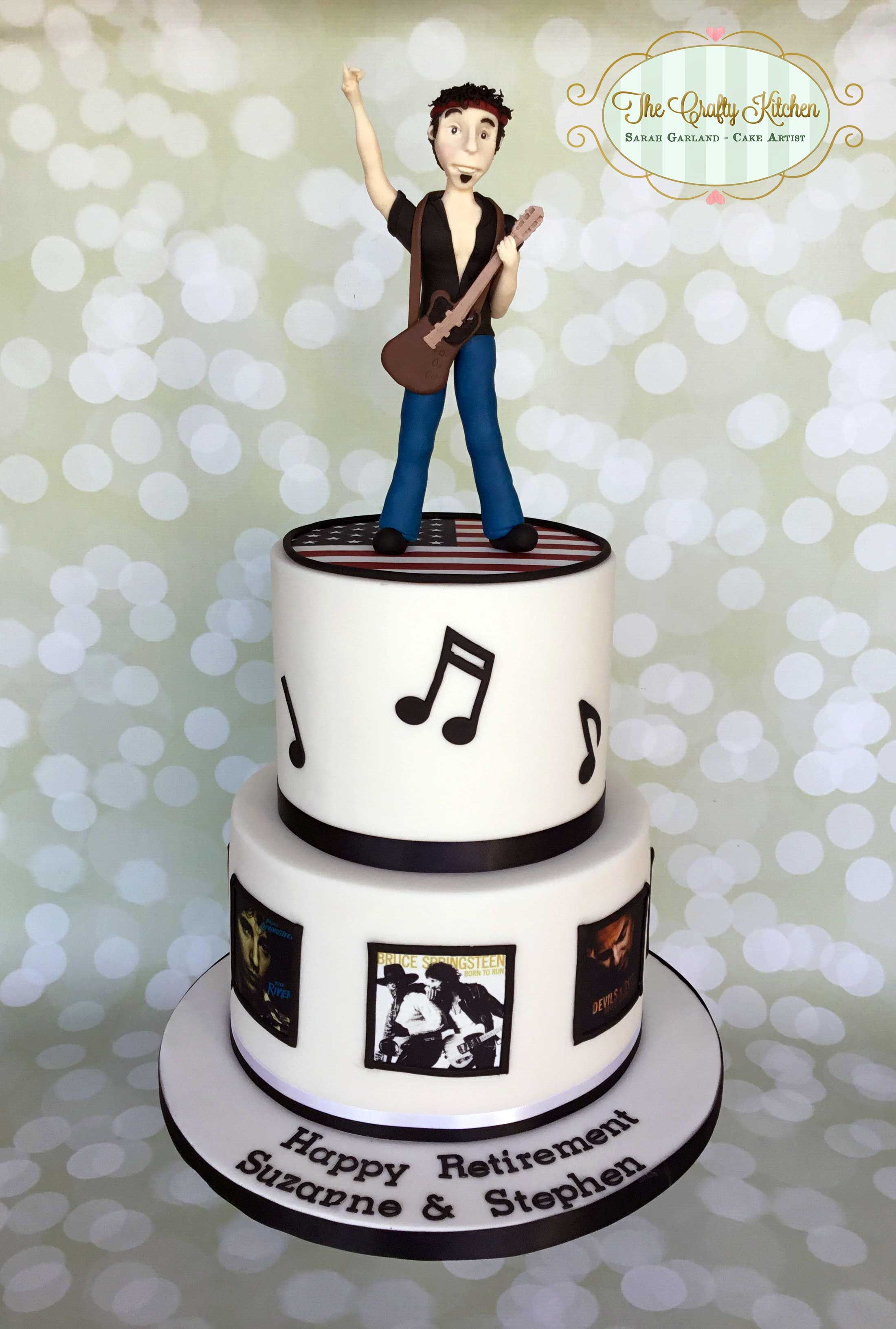 Peachy A Bruce Springsteen Themed Cake Brucespringsteen Celebration Funny Birthday Cards Online Bapapcheapnameinfo
