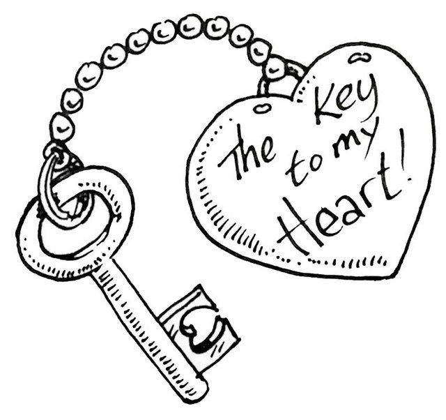 Lock And Key Coloring Pages Cute Drawings Of Love Drawings For Boyfriend Valentines Day Drawing