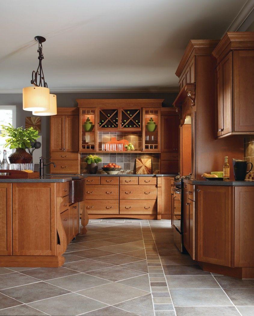 Kitchen Cabinets Thomasville: Cabbott Cherry Macaroon Kitchen By Thomasville Cabinetry
