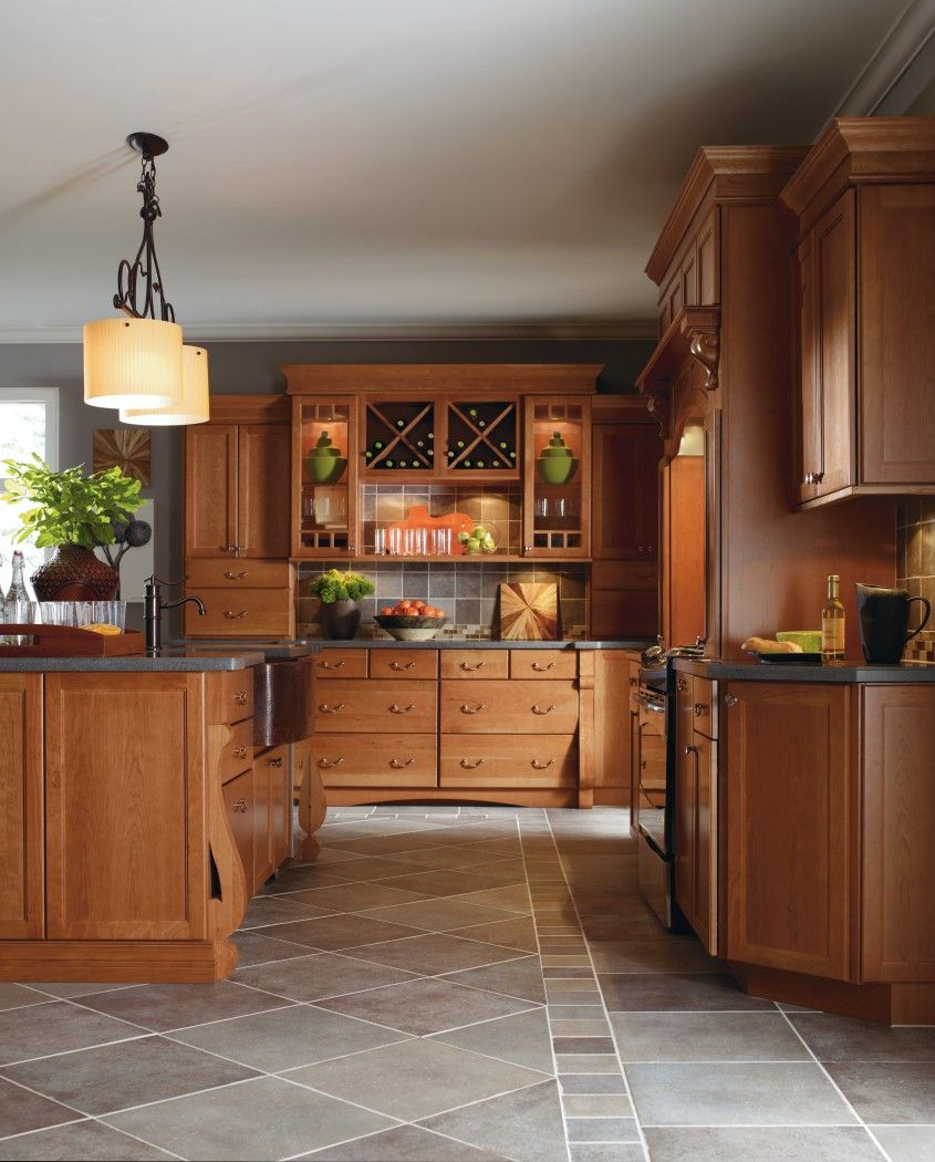 Cabbott Cherry Macaroon By Thomasville Cabinetry Thomasville Cabinetry Custom Kitchen Cabinets Cabinet Doors