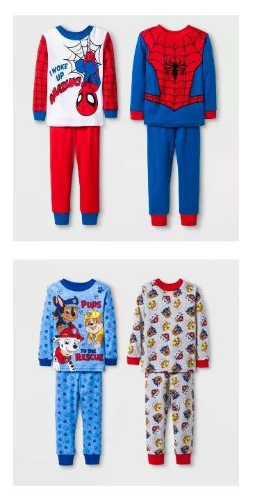 Character Spiderman Pajama For Young Boys Fun Night Sleep Gift Ad